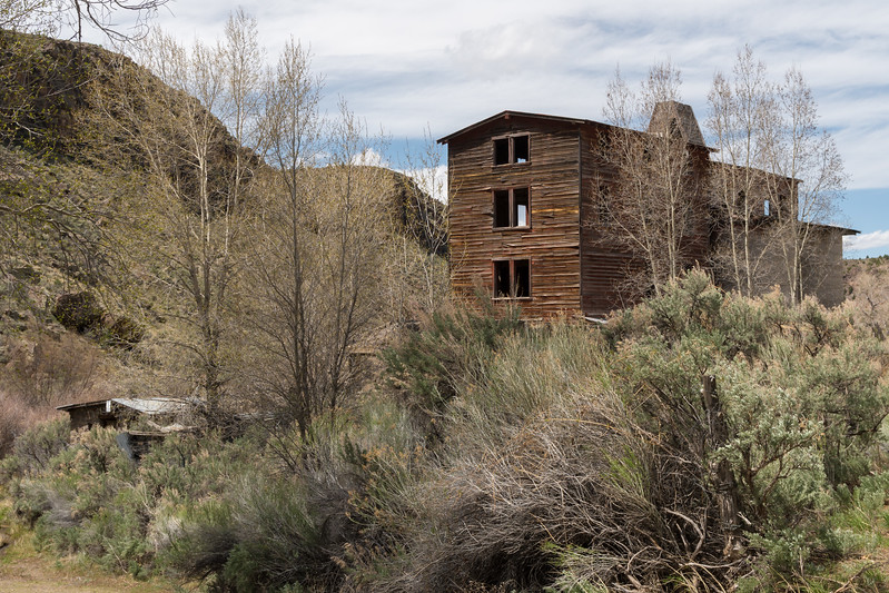 Old mill along a creek in Black Canyon.
