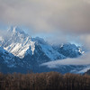 Chilkat mountains with clearing fog