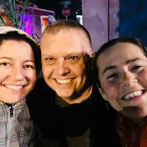 """After a """"pleasant"""" 2.5 hours drive to Olympia in torrential rains, I was rewarded by a fun reunion with my buddies from our 2009 trip to Peru - Stacey and K-Newt"""
