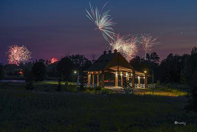Chaska Grand Chevalle Bridge Fireworks