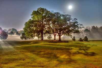 Foggy Night on Chastain Park Golf Course