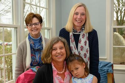 Lee Scott, Anita Drapeau (white scarf), Lynn Essanne (seated), Maya Chin (little girl)