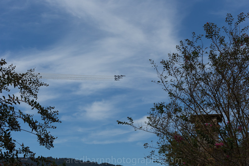 I was aware that the Blue angles where coming  to do a  fly  by ,missing man  in  memory