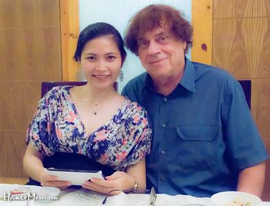 Harvey and Trang at Che Linh Dinner Party November 2014 Ho Chi Minh