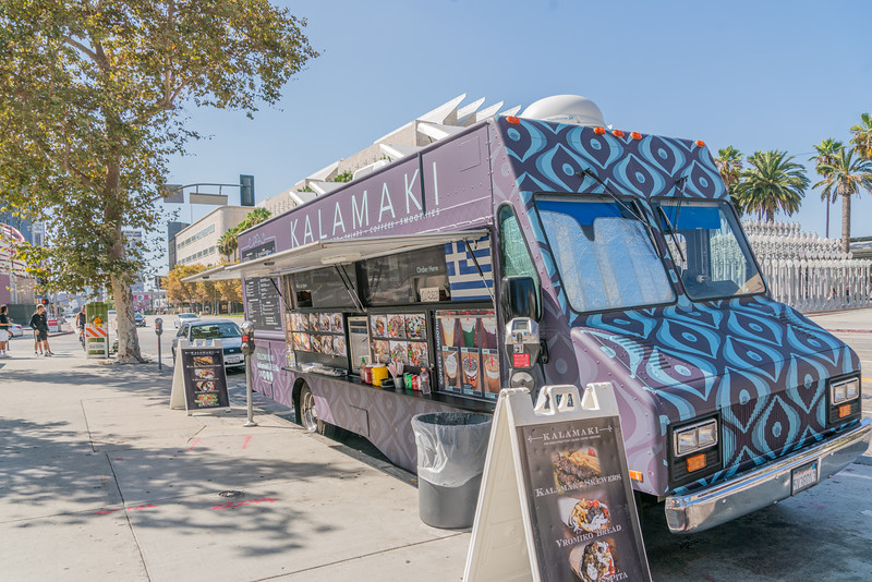 Greek food truck across from LACMA in Los Angeles