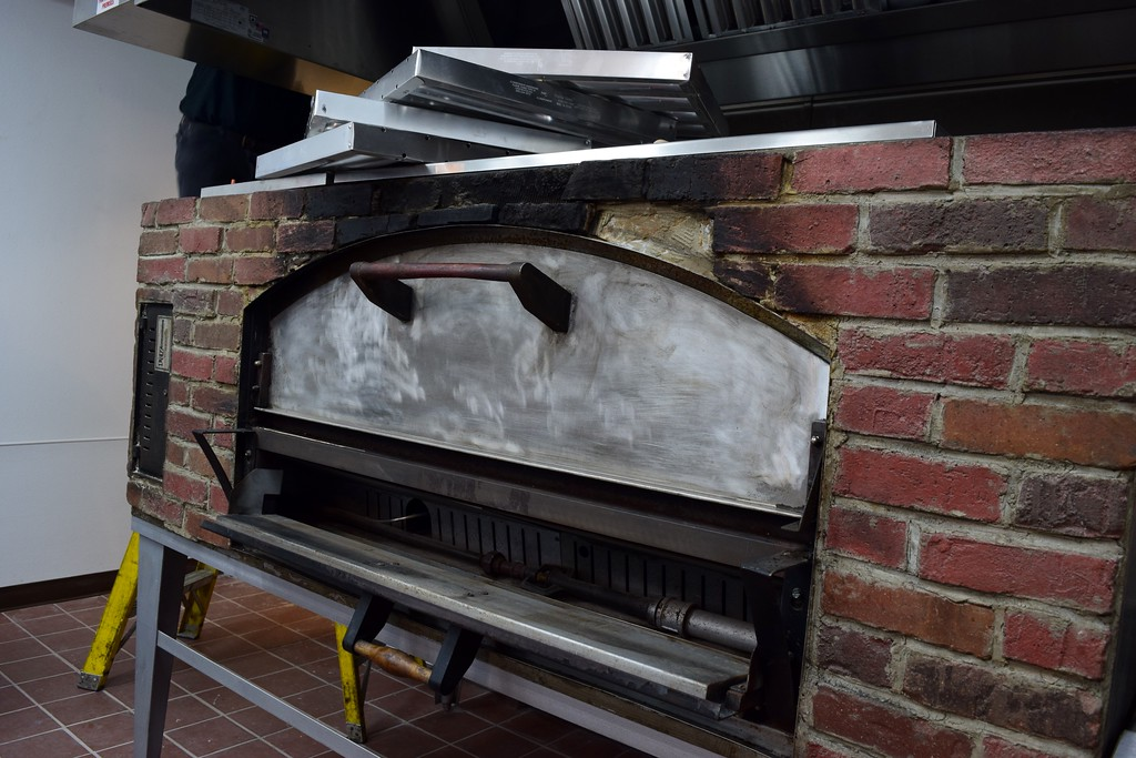 . The brick pizza oven inside Fillmore 13 Brewery, 7 North Saginaw St. in downtown Pontiac on Tuesday, Feb. 14, 2017.
