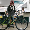 Philip Mandarano from Fitchburg checks out a bike at the Fitchburg Public Library on Saturday, Nov. 2, 2019. this is the third time he has gotten a bike. he uses it to get around the city easier and to get to job interviews. When you check out a bike you have to be a Fitchburg resident and have a library card. you get the bike for a week and when you return it you have to wait 24 hours to get another one. The library has a volunteer that fixes the bikes they got from donations. SENTINEL & ENTERPRISE/JOHN LOVE