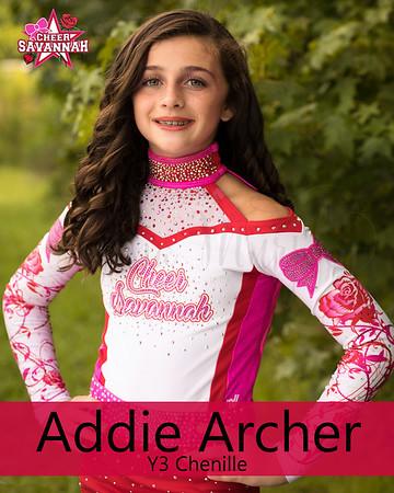 Cheer Savannah-Addie Archer (Y3 Chanielle)
