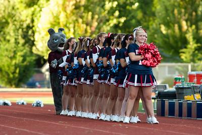 Black Hills and Montesano High Schools cheer, taken at the Tumwater HS / Black Hills HS stadium.