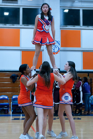 2011-01-18 Cheerleaders - Dayton vs Hillside