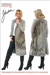 denim cheetah coat