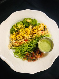 Mexican Cobb with avocado dressing