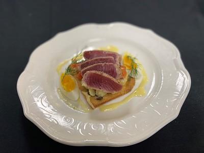 Tuna Nicoise – Pan seared fresh tuna, nicoise salad, lemon aioli