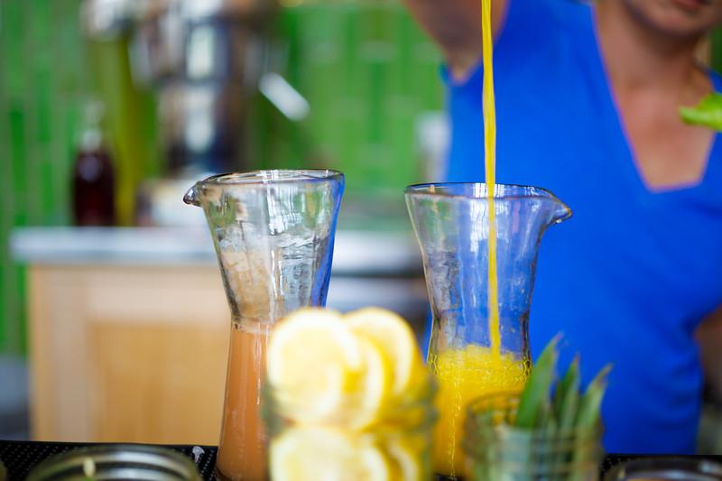 Fresh Juices from Austin restaurant Vinaigrette