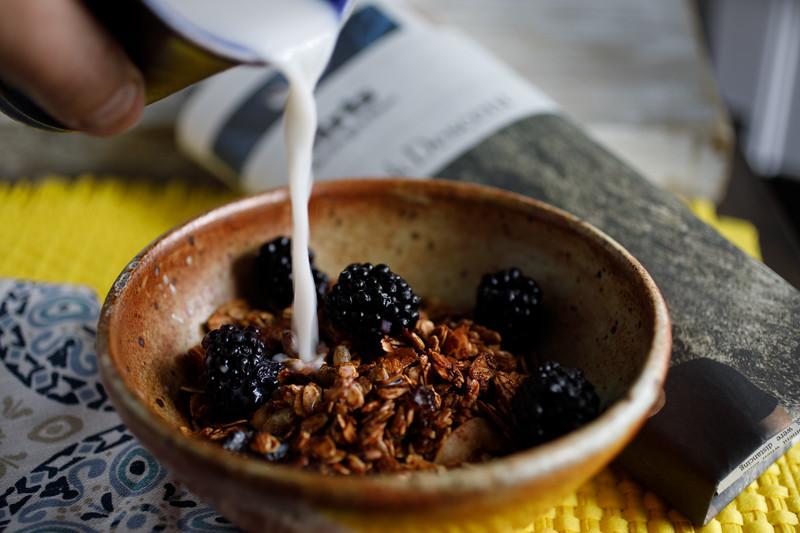 Handmade oil-free granola #2 created by Lisa Rice