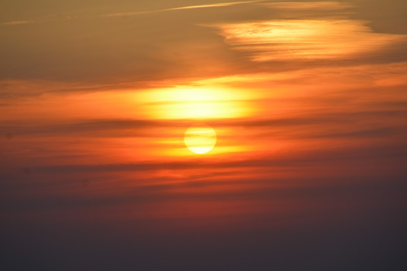 The next couple of photos are a series of close-ups of the sun going down.
