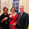 From left, Cherrice Lattimore, president of CCA pARTners, Kit Harbison and her husband, Don, all of Chelmsford