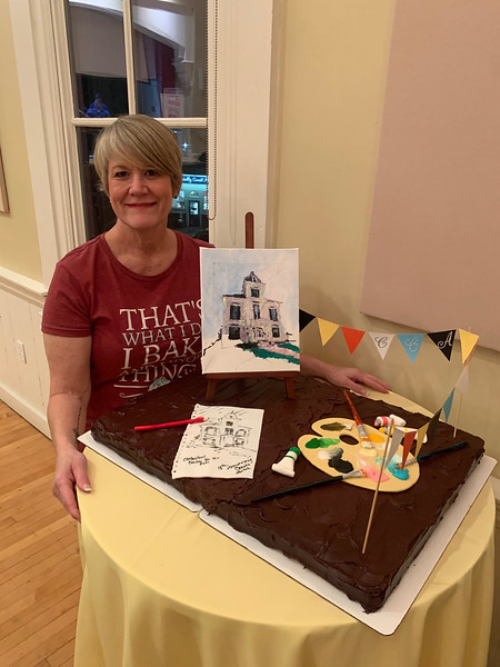 Joanne Stanway of Chelmsford shows off her creative cake.