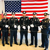 The Chelmsford Police Honor Guard, from left, Sgt. William Carlo, Officer Bob Brown, Officer Nick Ziminsky, Detective Craig Walsh and Sgt. Jeff Bernier, all of Chelmsford