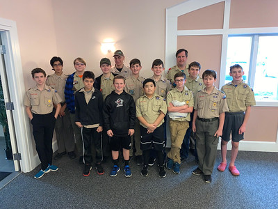 Boy Scouts from Troop 75 of Chelmsford