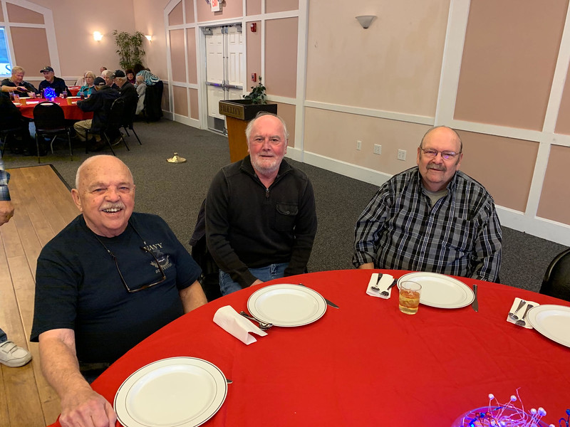From left, Navy veteran George McKenzie of Chelmsford, and Army veterans Mike Manor of Chelmsford and Ed Maher of Billerica