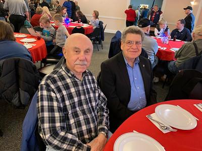 Korea veteran Joe DiSalvo and Vietnam veteran Dennis Kayser, both of Chelmsford