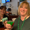Bartender Bobbi Joe McNiff of Ayer whips up her delicious green martini for Trish Varallo of Billerica