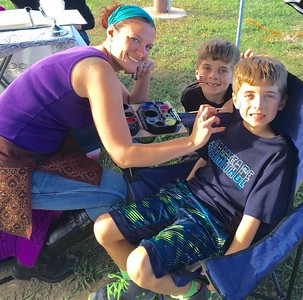 Joya Mellow of Chelmsford and twins Nathan and Matthew Costos of Groton