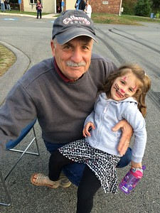 John Dowling with granddaughter Natalie DeVito, both of Chelmsford