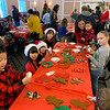 Children enjoy arts and crafts at the Elks.