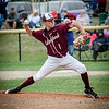 Chelmsford's Joseph Levesque throws his pitch in their game against the Wilmington Wildcats. SUN/Caley McGuane