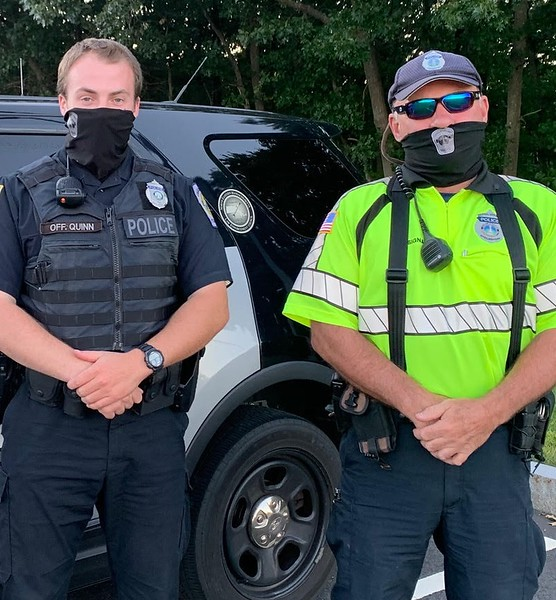 Chelmsford Police Officers Kevin Quinn and Leo Tousignant