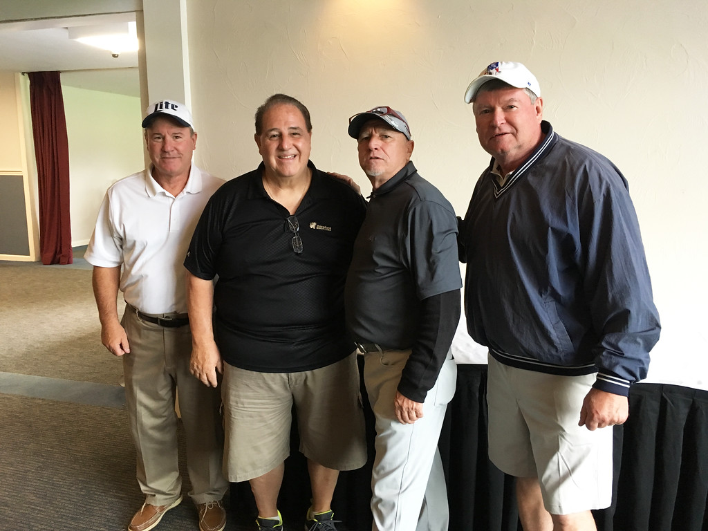 . From left, Bill Flanagan of Dracut, Art Sutcliffe of Chelmsford, Jim McQuaid of Lowell and Dan Leahy of Chelmsford
