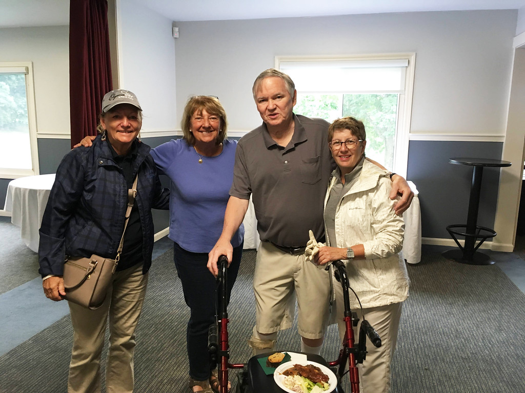 . From left, Jan Maliszewski, Ann and John Scannell, all of Lowell, and Susan Rourke of Merrimack, NH.