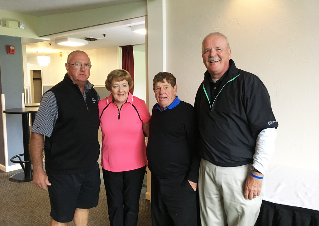 . From left, Joe Harne of Dracut, Kathleen and George Rogers of Hollis, N.H., and Bill Quinn of Lowell