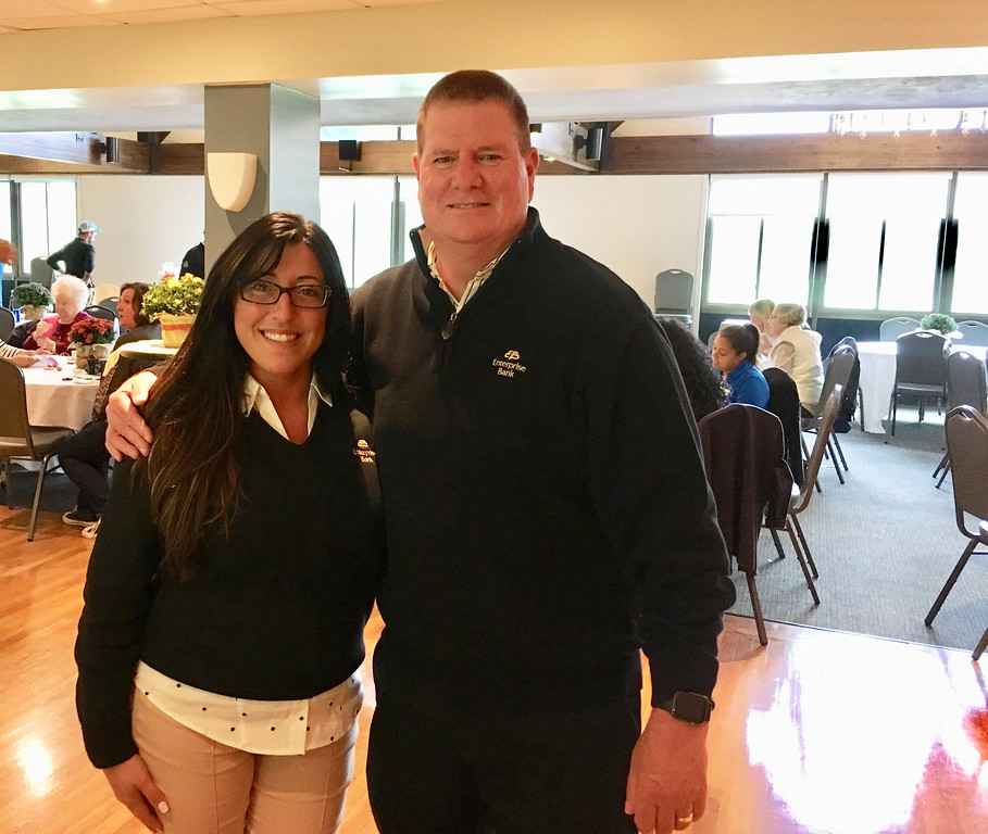 . Alternative House co-Chair Jessica Silva and Mike Riordan, both of Lowell