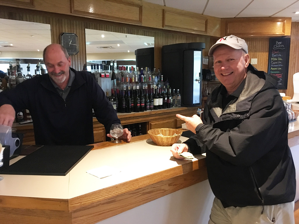 . Mount Pleasant�s faithful bartender, Sean Tulley of Lowell, and Mike Carney of Meredith, N.H.