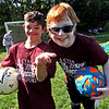 Buddies and fellow player athletes at the Top Soccer camp is L-R, Nick Poulin and Sean Noone both 12 and from Chelmsford. SUN/David H. Brow