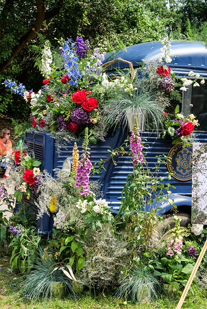 Flowered truck