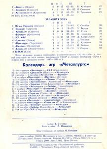 Металлург (Челябинск) 1986-1987