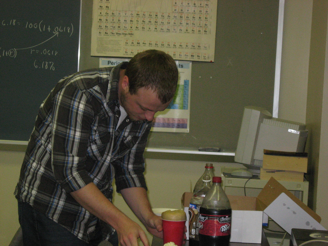 Spencer making an awesome soda float!