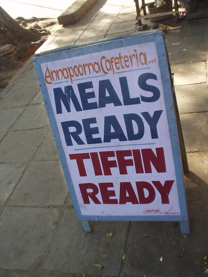 16 January: Meals ready