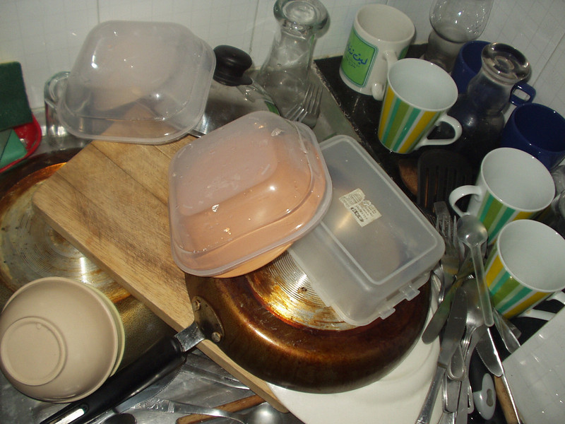 14 February: Washing up