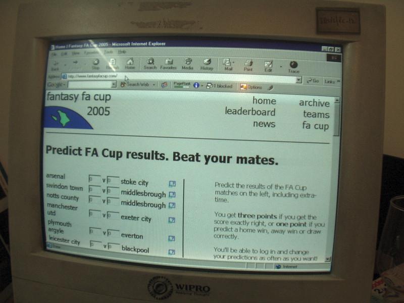 6 December: Fantasy FA Cup