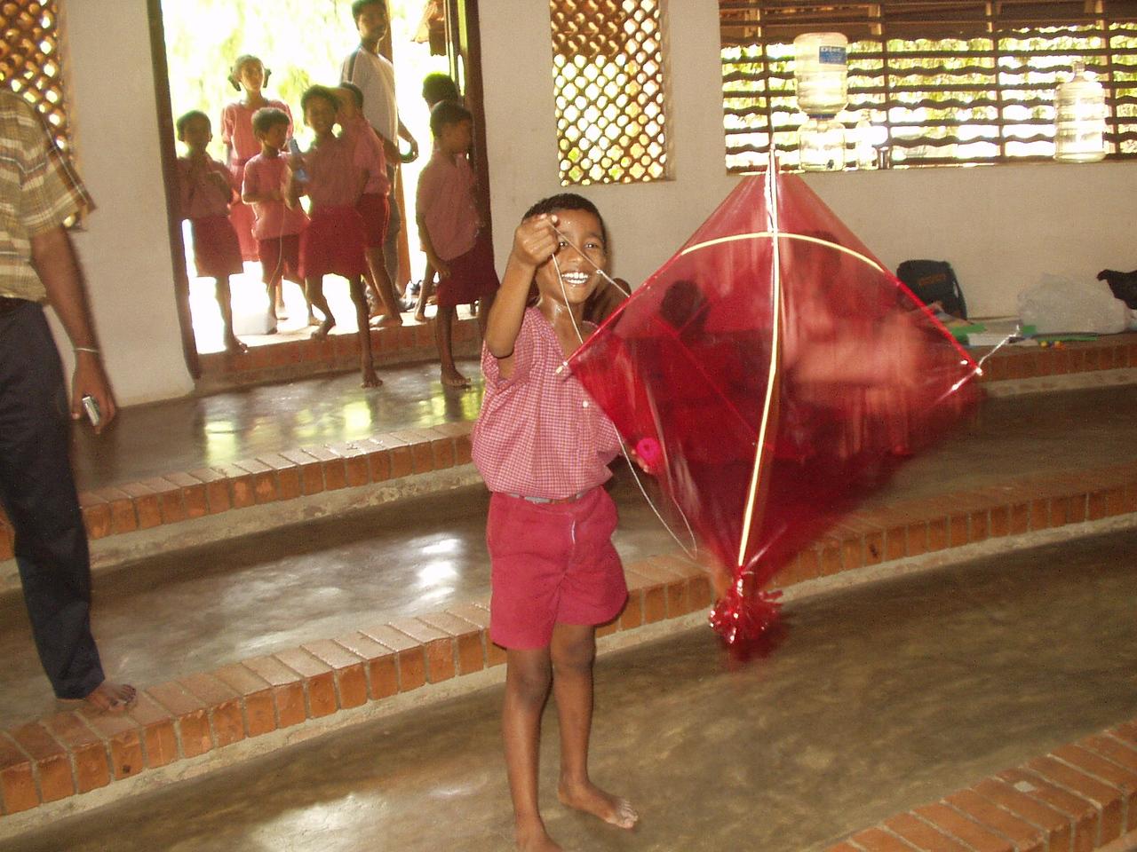 Indoor kite-flying