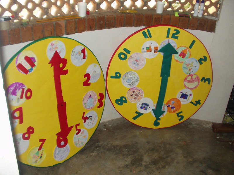 Both teams' clocks