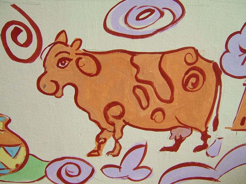 Groovy cow