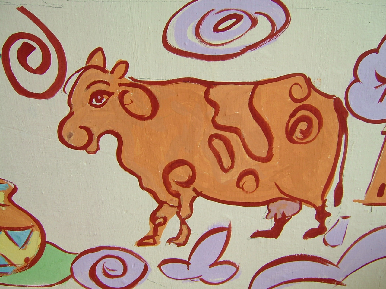 Groovy cow