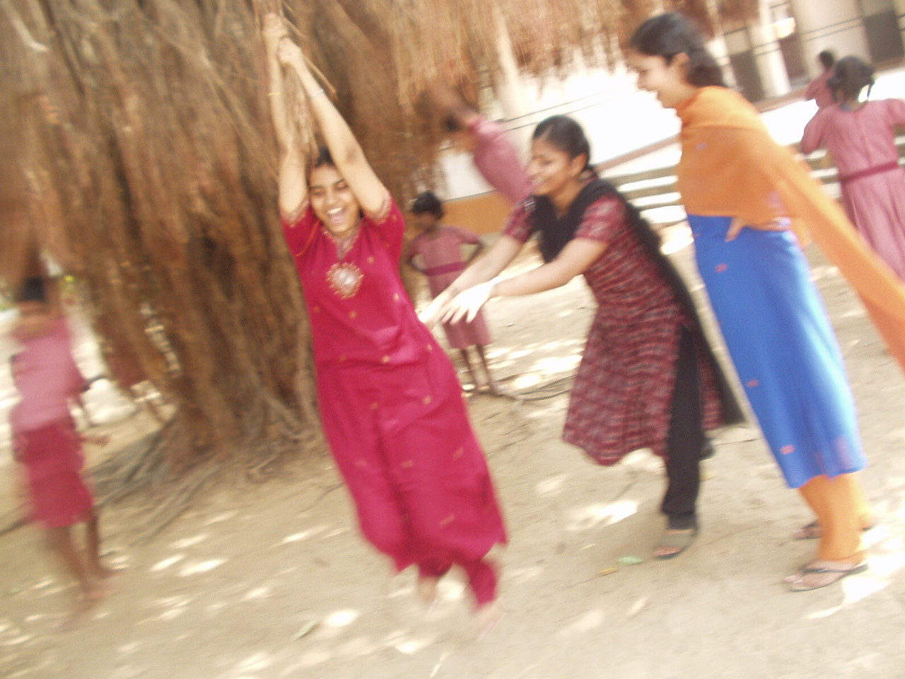 Priya swinging