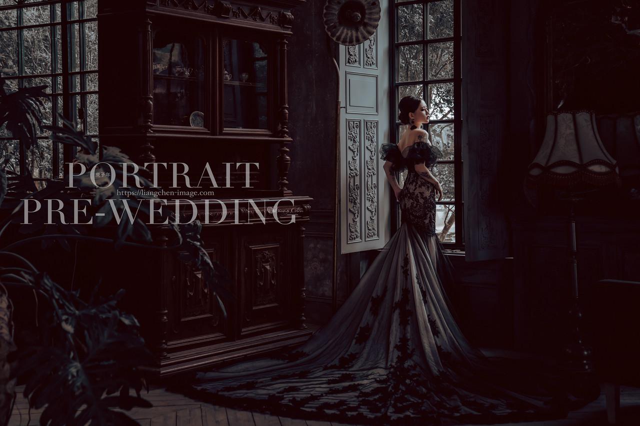 陽明山、台北婚紗、復古時尚風格婚紗